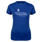 Ladies Syntrel Performance Royal Tee-Graduate School
