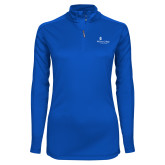 Ladies Syntrel Interlock Royal 1/4 Zip-Primary Mark