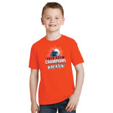 Youth Orange T Shirt-2019 CCIW Football Champions