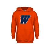 Youth Orange Fleece Hoodie-W