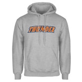 Grey Fleece Hoodie-Thunder Wordmark