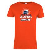 Ladies Orange T Shirt-2019 CCIW Football Champions