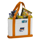 Contender White/Orange Canvas Tote-Primary Athletics Mark