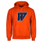 Orange Fleece Hoodie-W