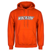 Orange Fleece Hoodie-Athletics Wordmark