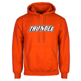 Orange Fleece Hoodie-Thunder Wordmark