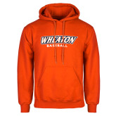 Orange Fleece Hoodie-Wheaton Baseball