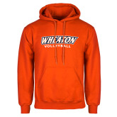 Orange Fleece Hoodie-Wheaton Volleyball