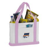 Contender White/Pink Canvas Tote-Primary Athletics Mark