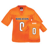 Youth Replica Orange Football Jersey-Wheaton Football Jersey