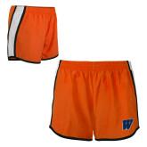 Ladies Orange/White Team Short-W