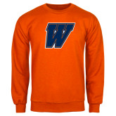 Orange Fleece Crew-W