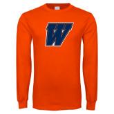 Orange Long Sleeve T Shirt-W