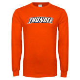 Orange Long Sleeve T Shirt-Thunder Wordmark