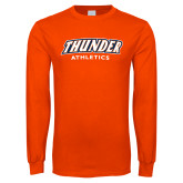 Orange Long Sleeve T Shirt-Thunder Athletics