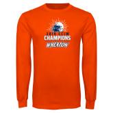 Orange Long Sleeve T Shirt-2019 CCIW Football Champions