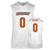 Replica White Adult Basketball Jersey-Athletics Wordmark