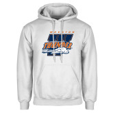 White Fleece Hoodie-Primary Athletics Mark