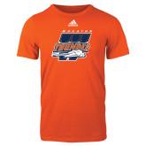 Adidas Orange Logo T Shirt-Primary Athletics Mark