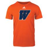 Adidas Orange Logo T Shirt-W