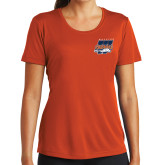 Ladies Performance Orange Tee-Primary Athletics Mark