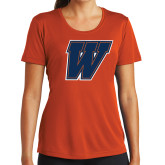 Ladies Performance Orange Tee-W