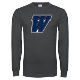 Charcoal Long Sleeve T Shirt-W