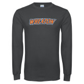 Charcoal Long Sleeve T Shirt-Athletics Wordmark