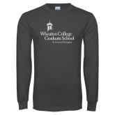 Charcoal Long Sleeve T Shirt-Graduate School