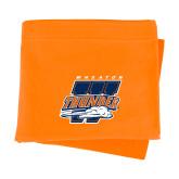 Orange Sweatshirt Blanket-Primary Athletics Mark