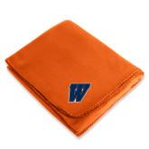 Orange Arctic Fleece Blanket-W