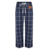 Navy/White Flannel Pajama Pant-W
