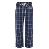 Navy/White Flannel Pajama Pant-Graduate School