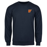 Navy Fleece Crew-W
