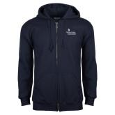 Navy Fleece Full Zip Hoodie-Graduate School