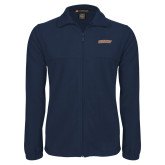Fleece Full Zip Navy Jacket-Athletics Wordmark