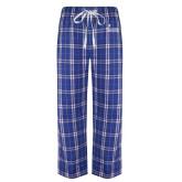 Royal/White Flannel Pajama Pant-Graduate School