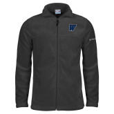 Columbia Full Zip Charcoal Fleece Jacket-W