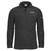 Columbia Full Zip Charcoal Fleece Jacket-Athletics Wordmark
