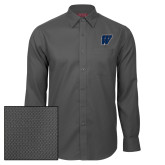 Red House Dark Charcoal Diamond Dobby Long Sleeve Shirt-W