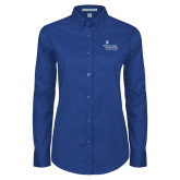 Ladies Royal Twill Button Down Long Sleeve-Graduate School