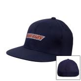 Navy OttoFlex Flat Bill Pro Style Hat-Athletics Wordmark