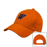 Orange Heavyweight Twill Pro Style Hat-W