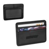 Pedova Black Card Wallet-Athletics Wordmark Engraved