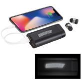 LIGHT UP LOGO Wireless Earbuds w/UL Powerbank-Athletics Wordmark Engraved