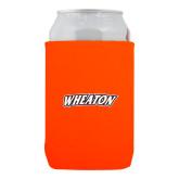 Neoprene Orange Can Holder-Athletics Wordmark