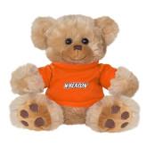 Plush Big Paw 8 1/2 inch Brown Bear w/Orange Shirt-Athletics Wordmark