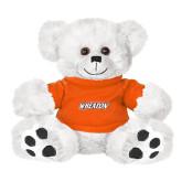 Plush Big Paw 8 1/2 inch White Bear w/Orange Shirt-Athletics Wordmark
