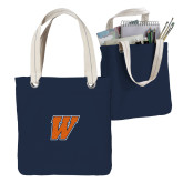 Allie Navy Canvas Tote-W