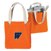 Allie Orange Canvas Tote-W